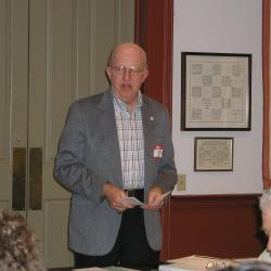 Dick Smith, Educator and past president of Historical Society