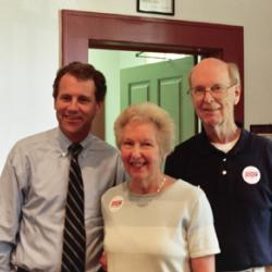 Jim & Carolyn Mackey at Old Town Hall with Senator Brown
